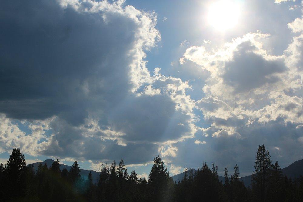 big sky yellowstone sunshine