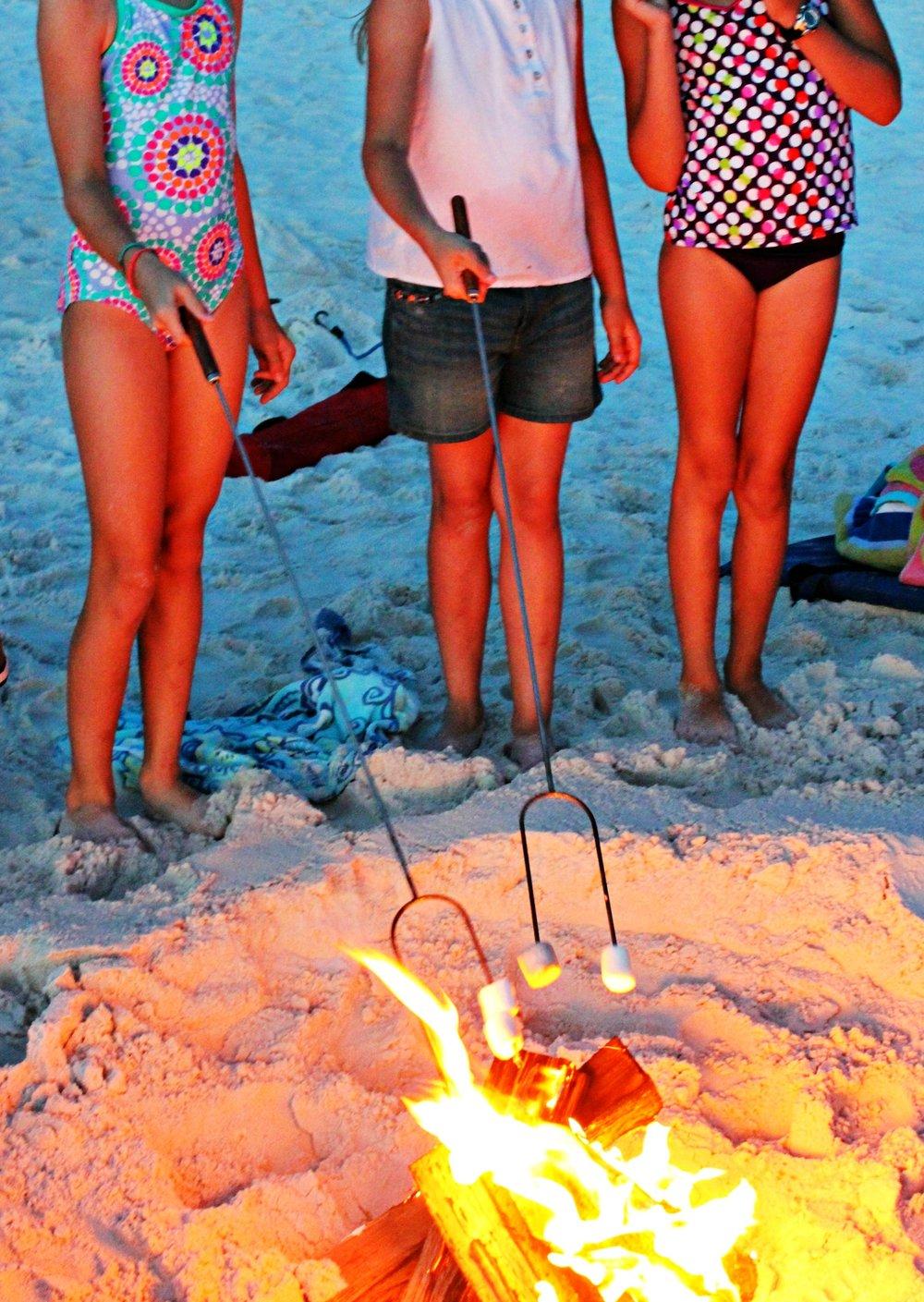 campfire-beach-cape-san-blas-florida