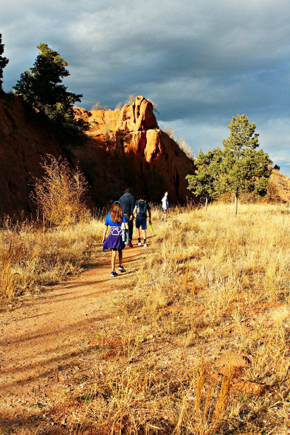 Hiking red rock up trail.jpg