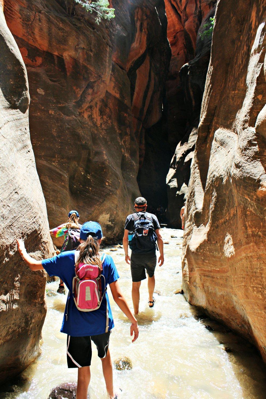Kanarraville Falls Utah hike slot starting to narrow