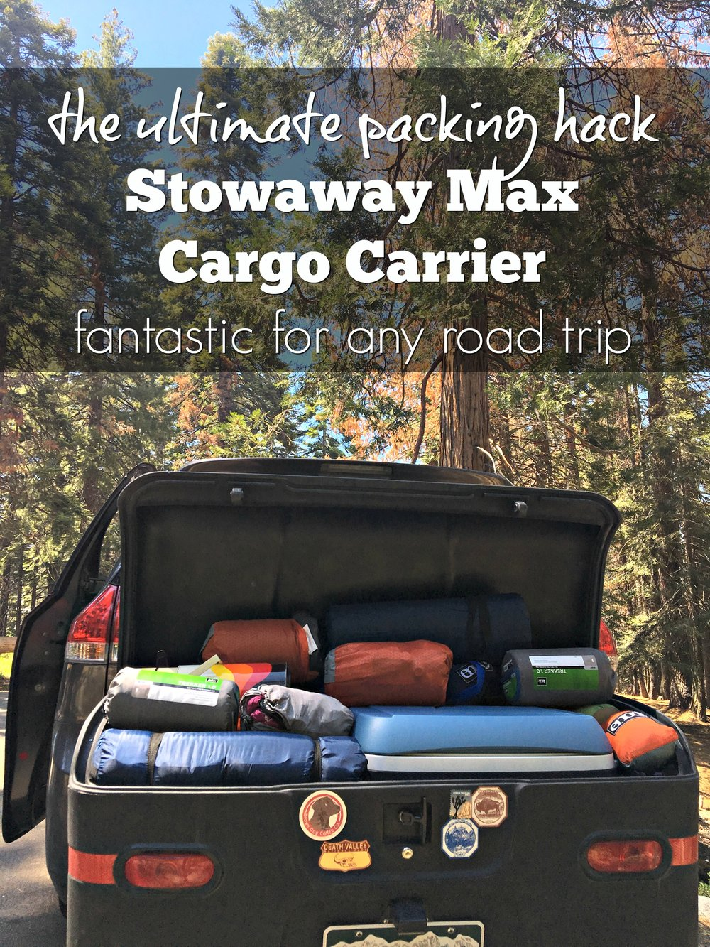 The Stowaway2 Max Cargo Carrier - the best solution for any big road trip!