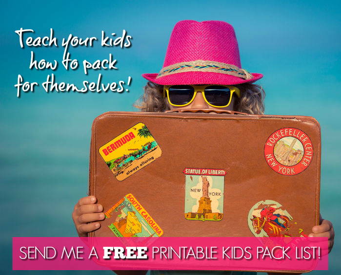 free kids pack list printable