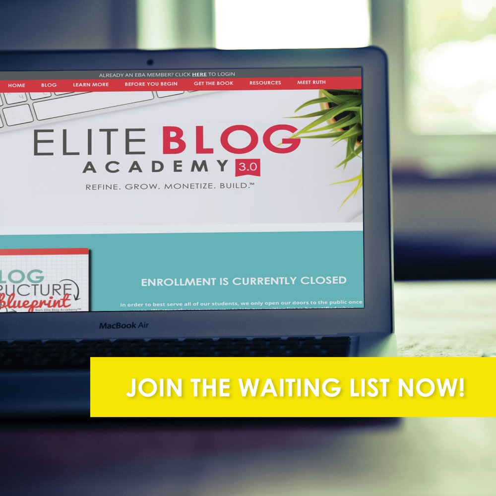 I'm a member of Elite Blog Academy (EBA) and credit this amazing course for providing awesome, timely direction in kick-starting this family travel blog.  If you long to sharpen your blogging skills, check out EBA!