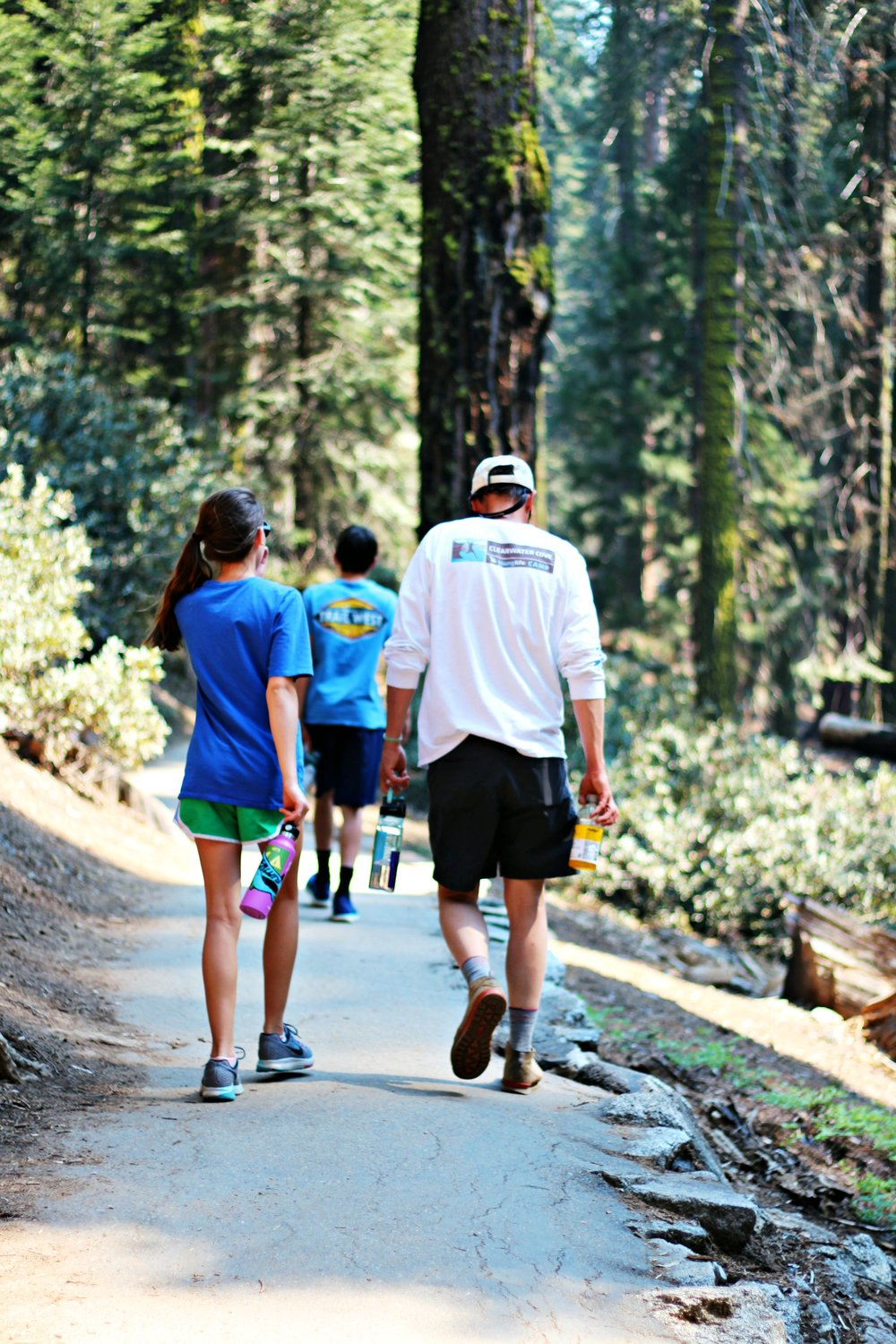 hiking together to see Sherman and Congress Trail Sequoia National Park