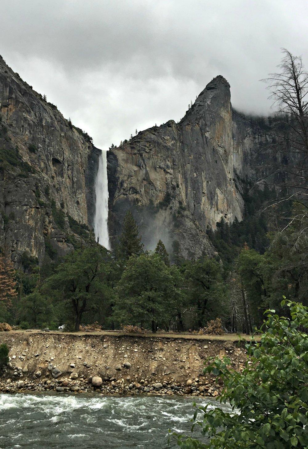 Bridalveil Falls exploring Yosemite National Park