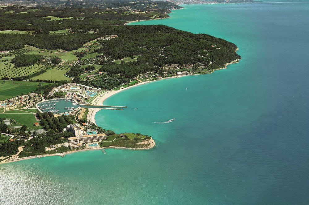 aerial of Sani Resort / photo credit: Sani Resort