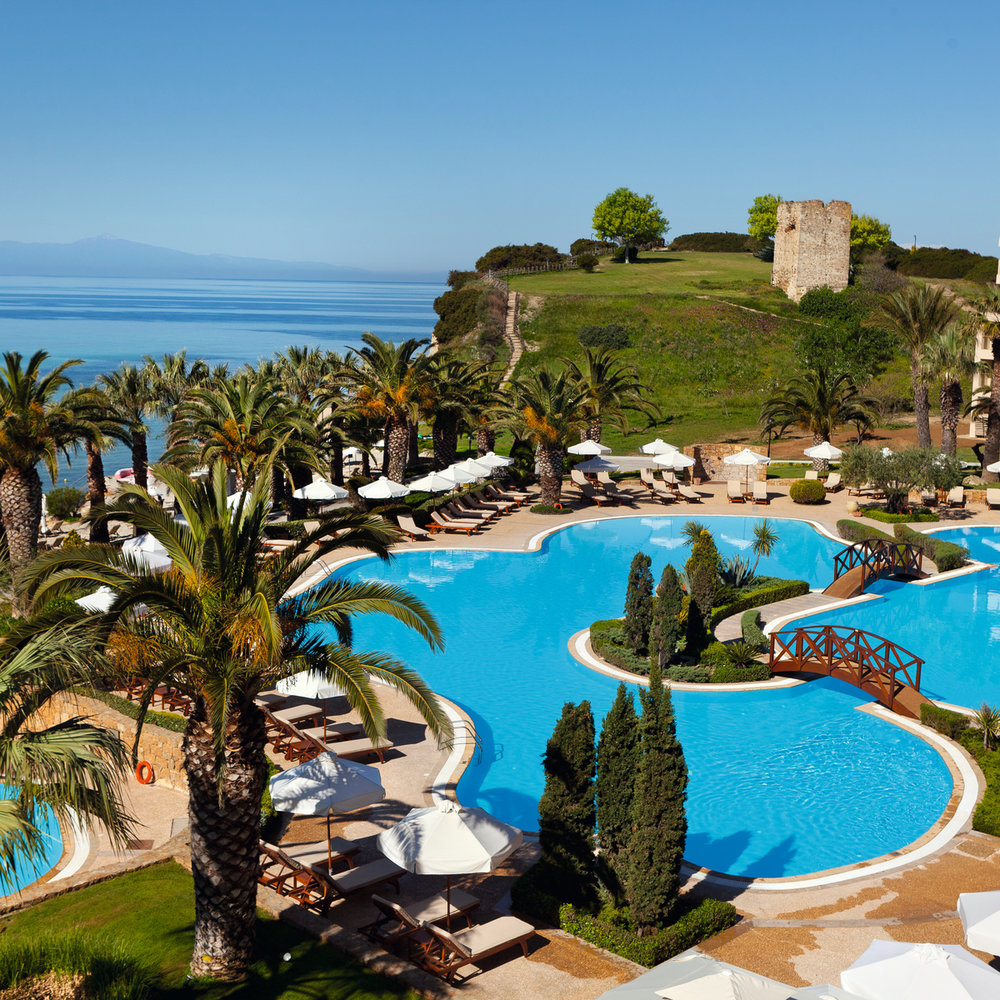 Sani beach pool