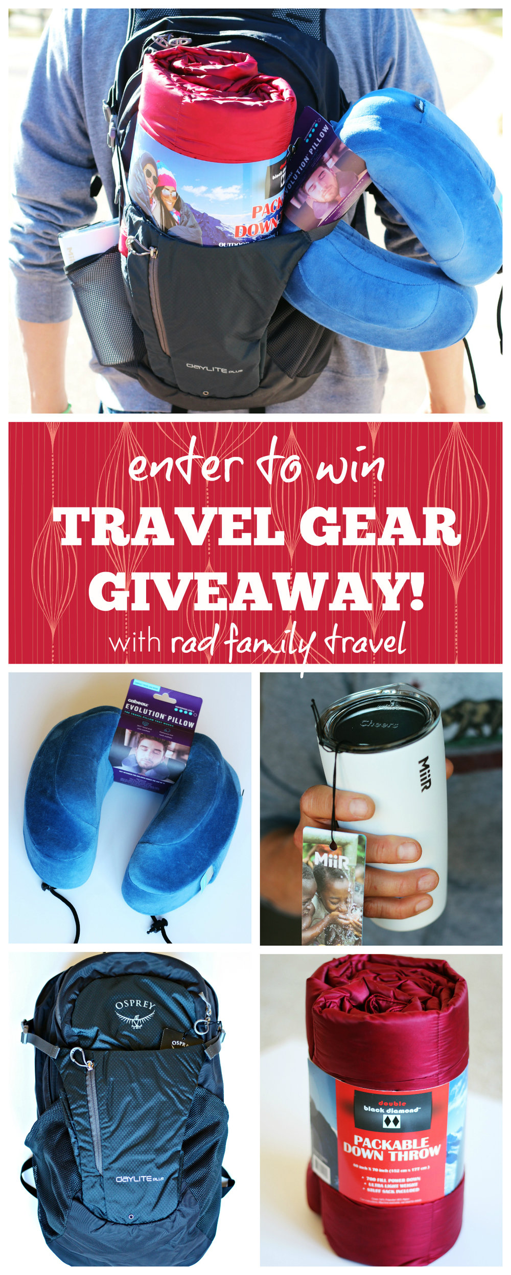 enter to win travel gear giveaway