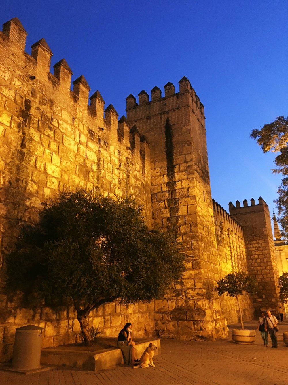 Royal Alcazar at night
