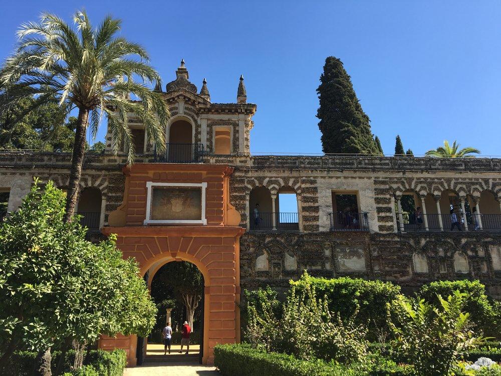 Alcazar gardens Sevilla Spain