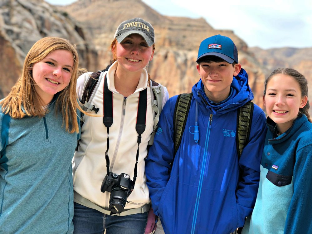 teens on Havasupai trail