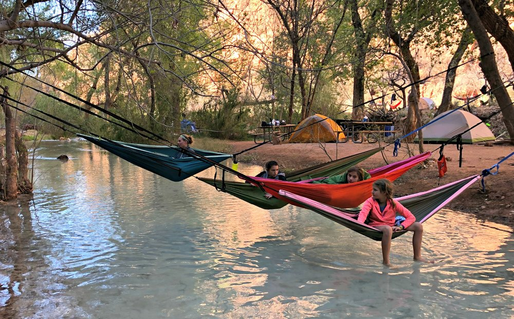 hammocks over Havasu Creek