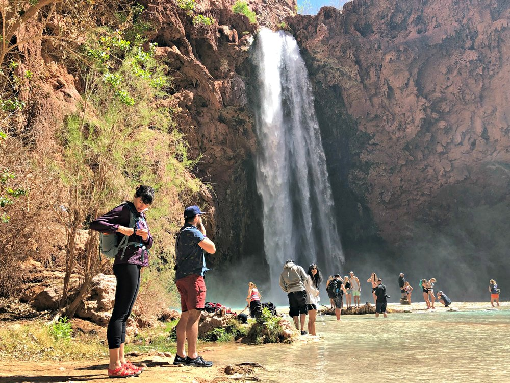 people at Mooney Falls