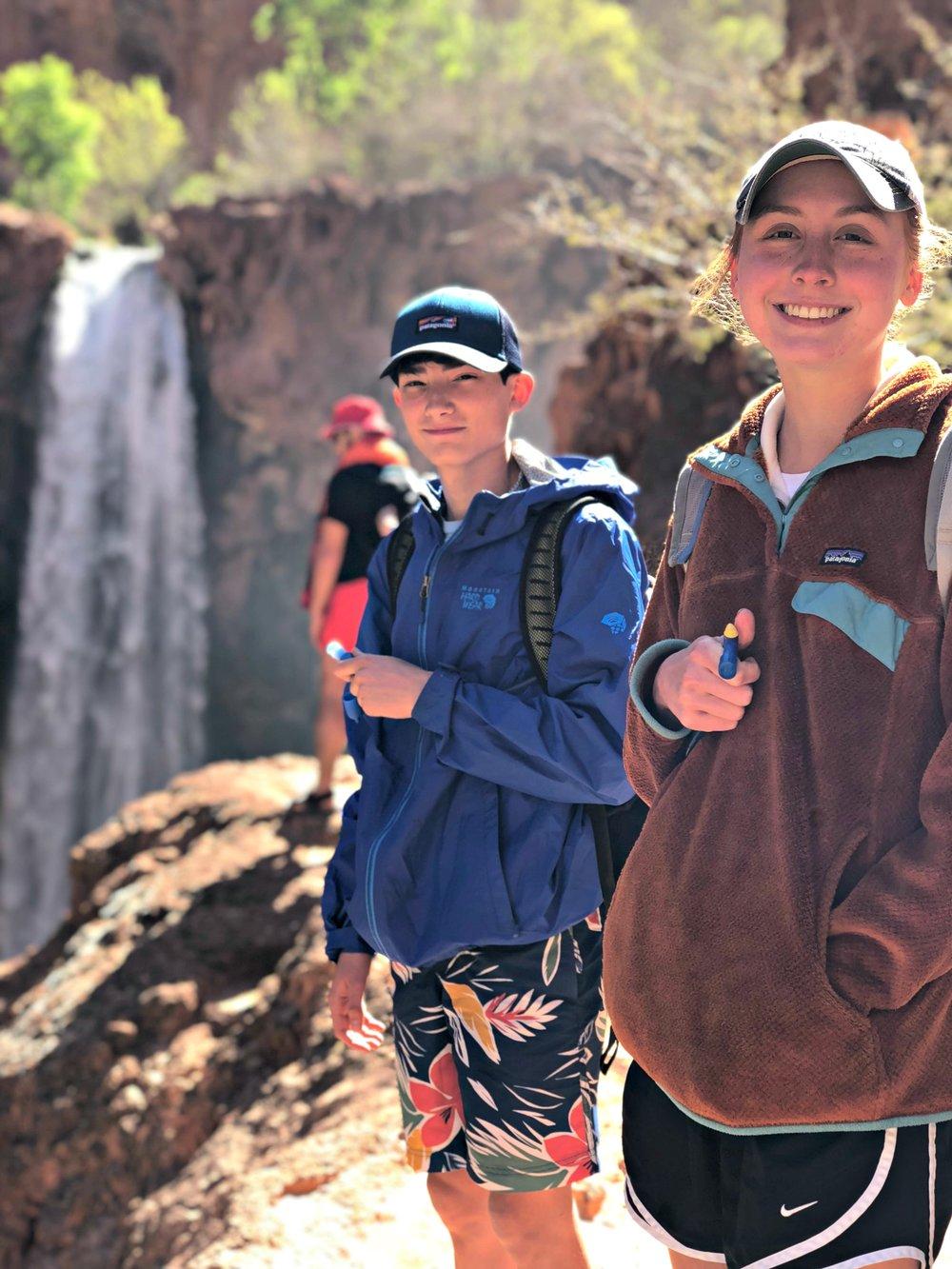 teens-before-climbing-down-mooney-falls-leader