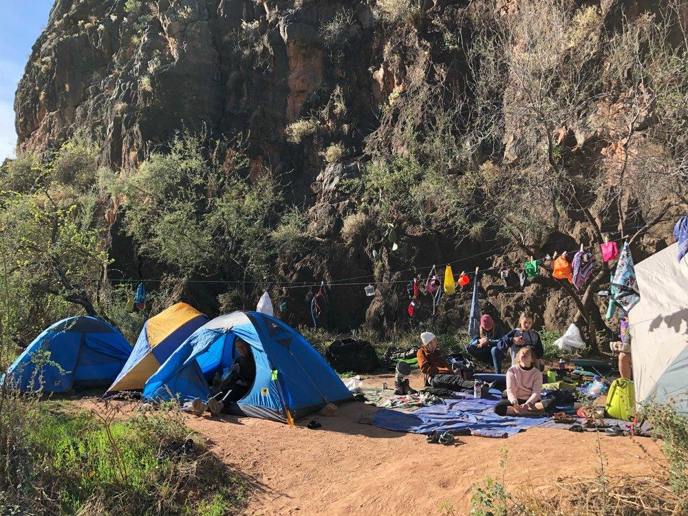 campsite Havasupai