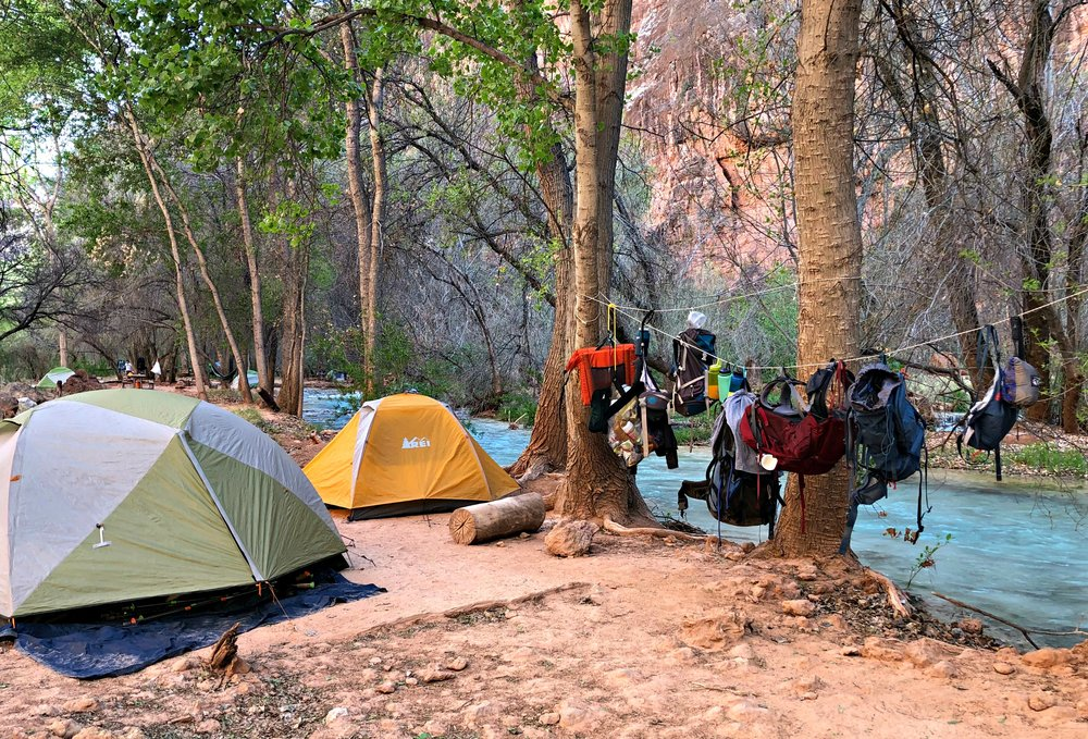 camping by Havasu Creek
