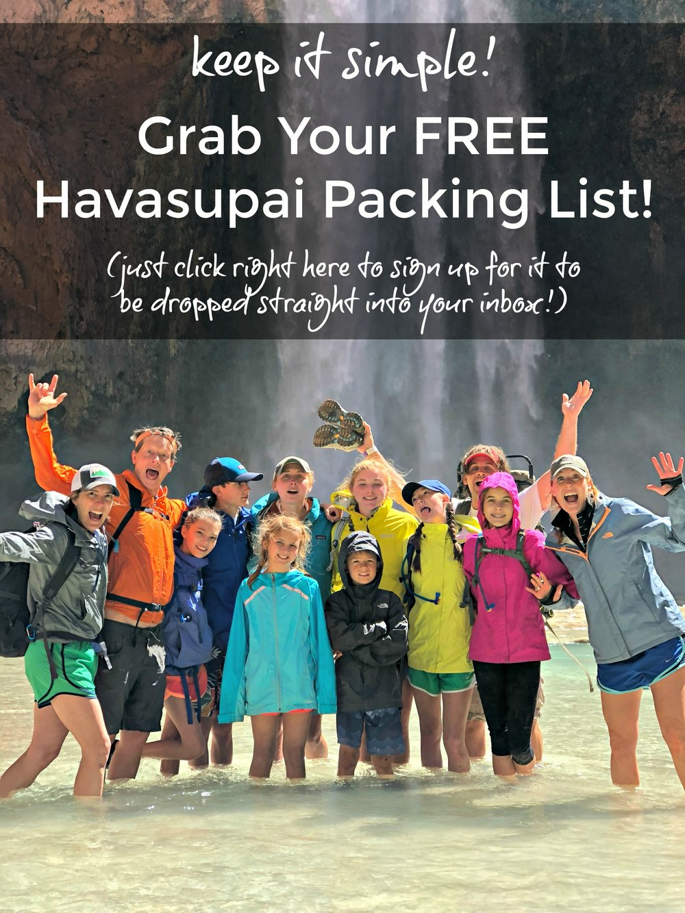 Free packing camping list