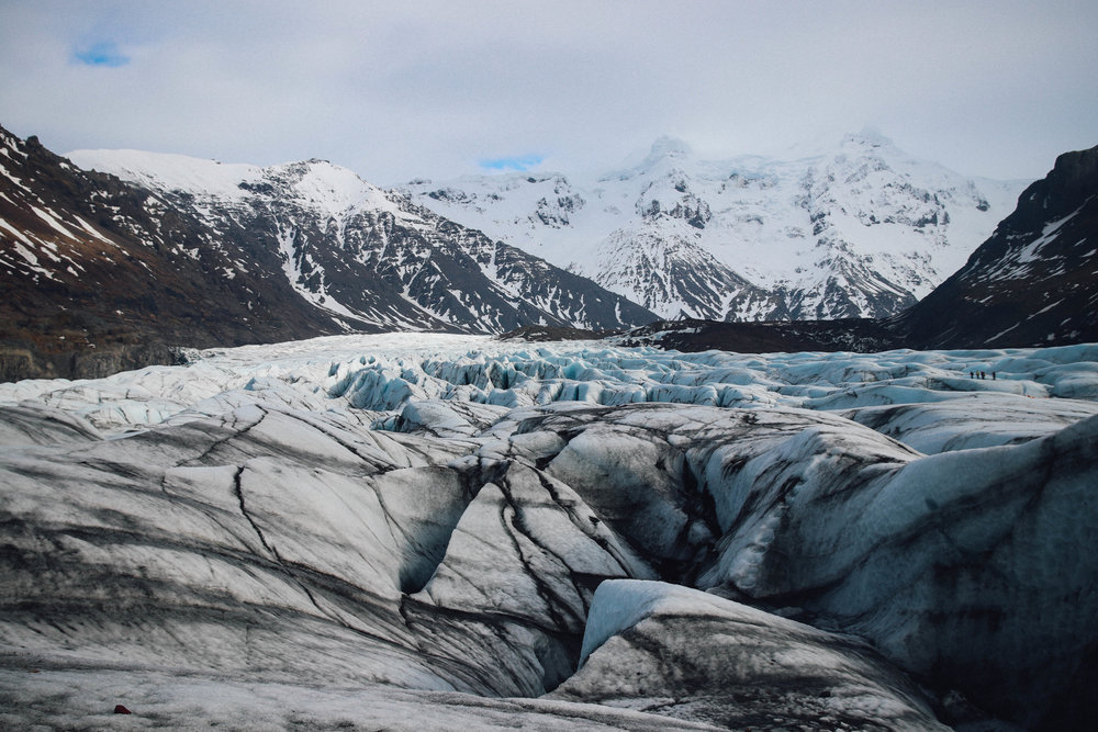 Glacier hiking at Skaftafell, photo by Karen Hinde