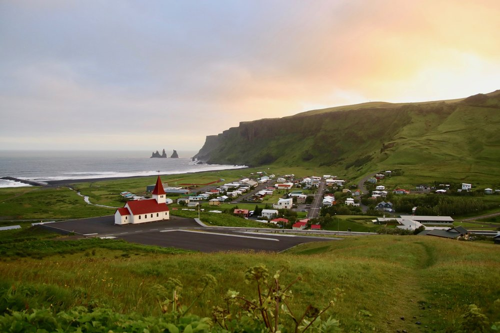 The town of Vík, photo by Karen Hinde
