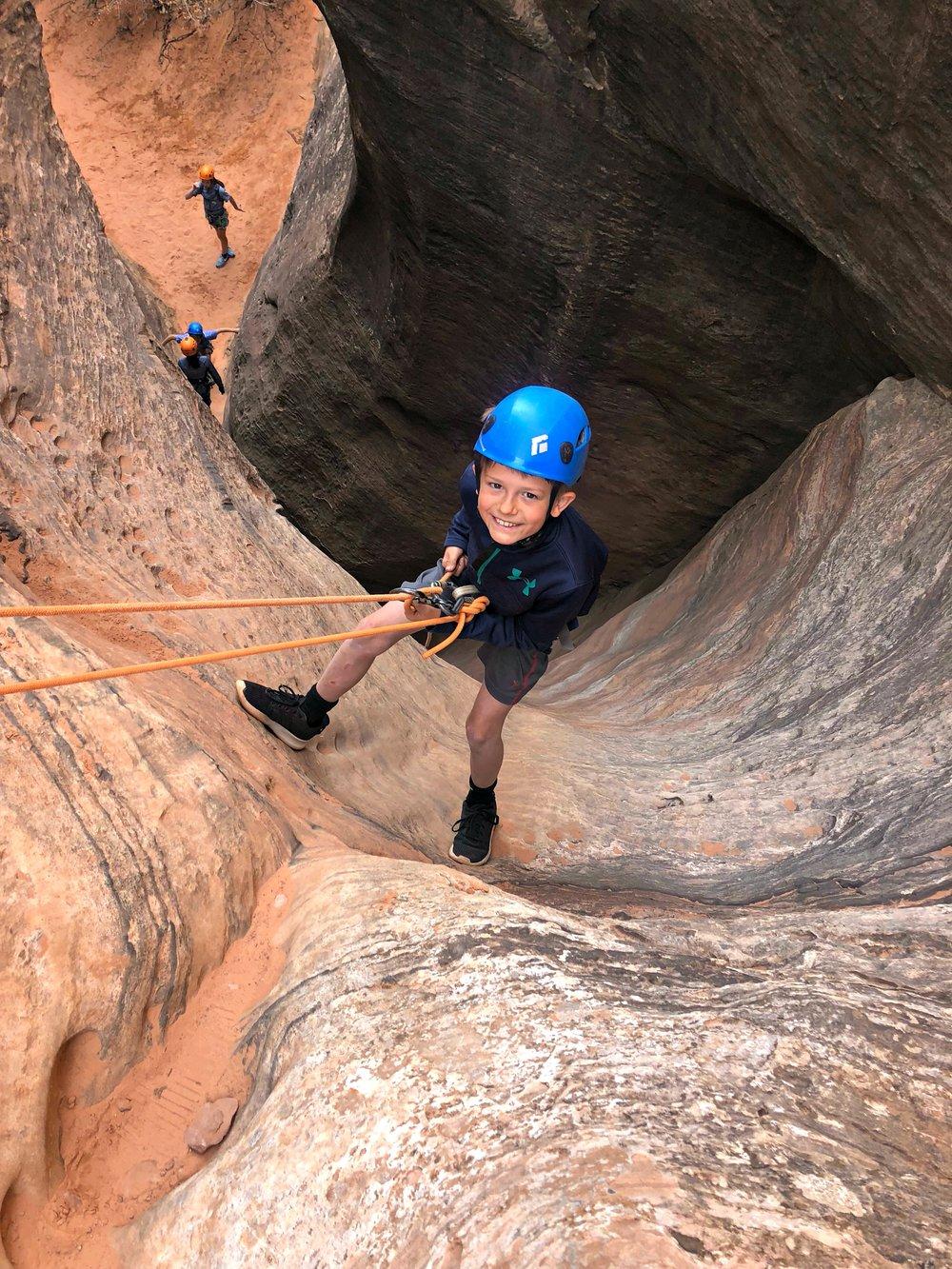 small-boy-canyoneering-near-zion-national-park