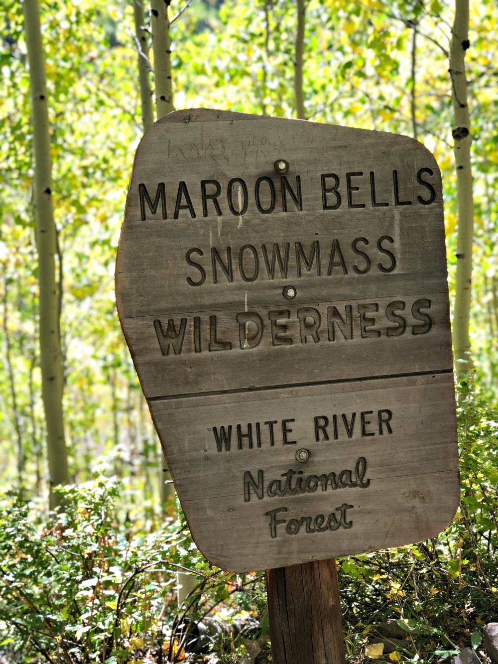 maroon-bells-snowmass-wilderness-sign