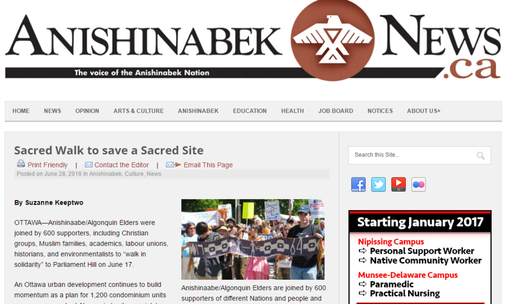 CLICK TO READ THE ANISHINABEK NEWS ARTICLE