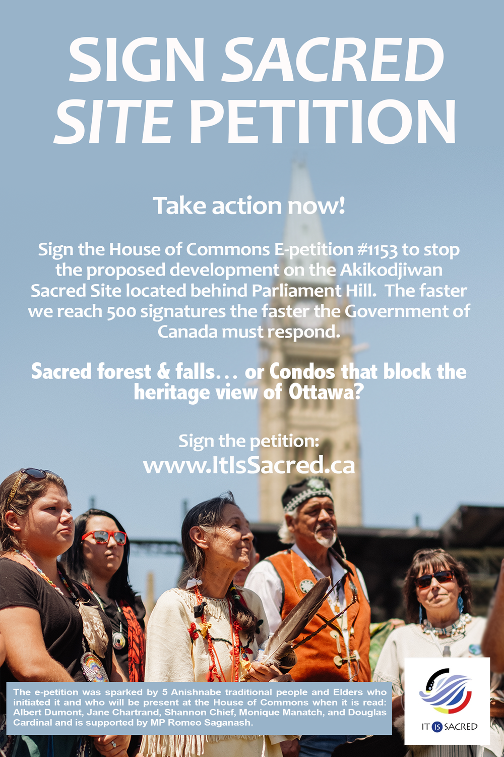 Sign e-petition poster