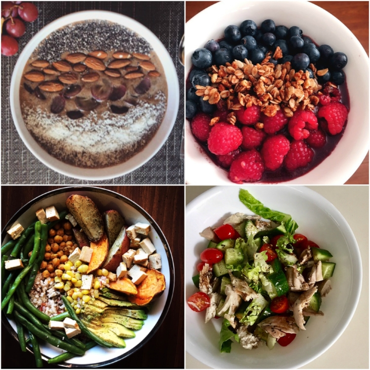 Sticking to your #RealResolutions is easier when you have the right inspiration for eating healthy! From l-r #TeamPumpUp members share their eats: @mia_mria, @fitnesswithrachel, @s4steer, @ella_emilie
