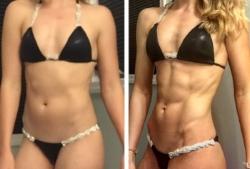 20% body fat (left) verses 9% (right)