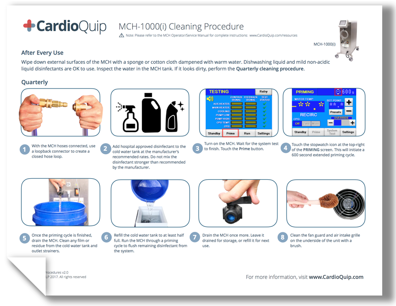 MCH-1000(i) Cleaning Guide