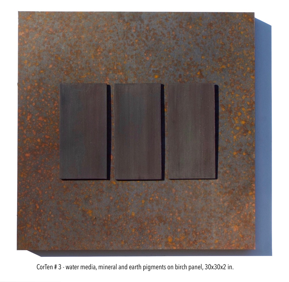 Stockamore, CorTen #3, water media, mineral & earth pigments on panel, 30x30x2 in..jpg