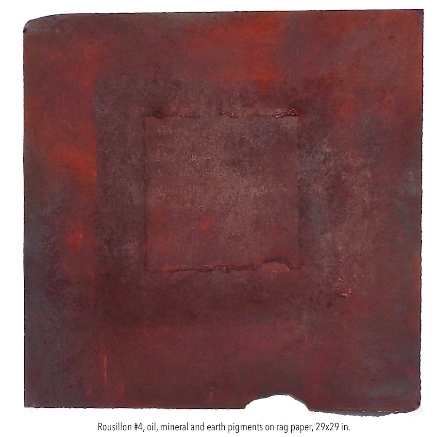 Pamela Stockamore, Rousillon #4, oil & mineral pigment on paper, 29x29 in. (1).jpg