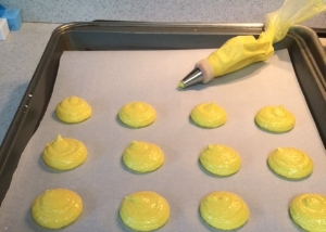 Piipe Cookies using #12 Dot Decorating Tip.
