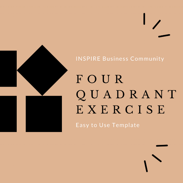 Download Our Four Quadrant Exercise to discover which tasks  you should  be delegating and the tasks in which to focus  your time and attention.