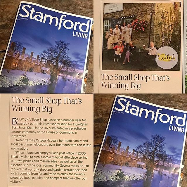 Thank you Stamford Living for supporting independent shops – and for the lovely mention this month. #shopsmall #supportlocal #shopindependent #thankyou #bulwickvillageshop