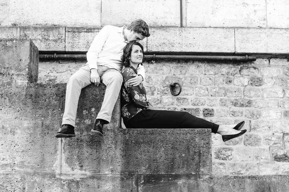 """Claire : """"Cette photo capture non seulement notre amour mais aussi la beauté de Paris, sans effort. """""""