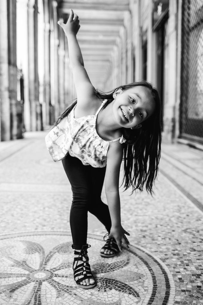 """Ana : """"Cette photo reflète très bien la personnalité de ma fille, son mouvement, son sourire """""""