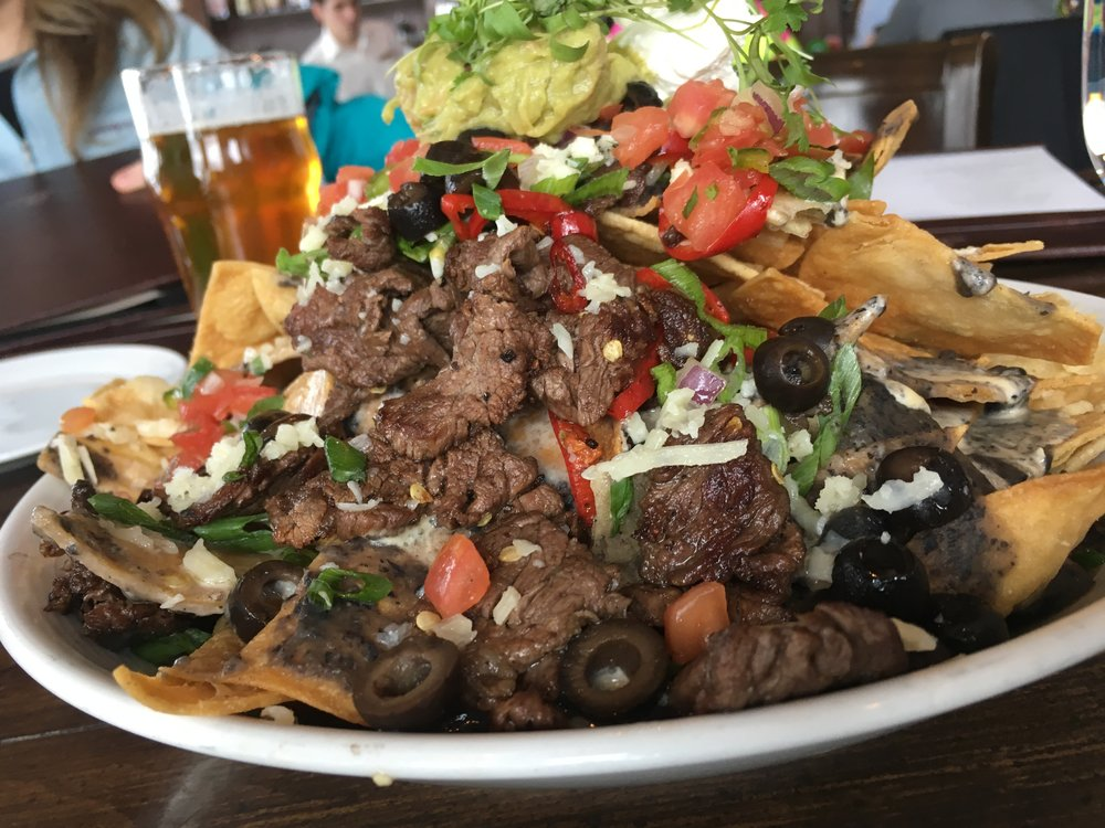 Wagyu Nachos from Burgers and Burboun at the Montage in Deer Valley.