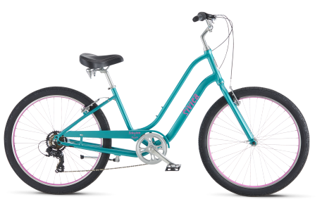 Schwinn Sivica 7 is a seven speed resigned bike and is available for rent or purchase and comes in several colors!