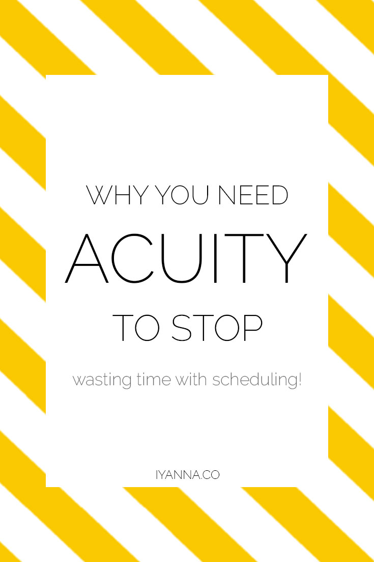 Save time on your scheduling process with acuity!