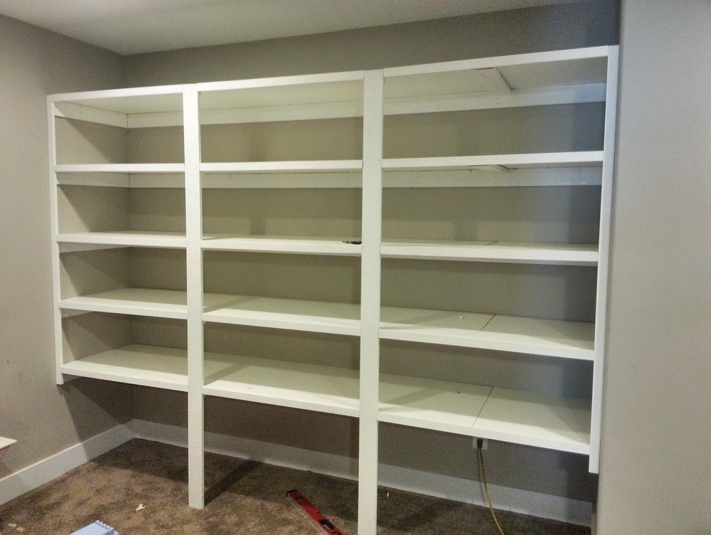 Painted Utility Shelving