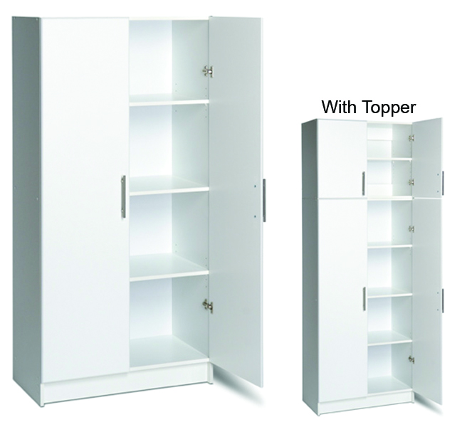 "32"" Storage Cabinet  - Two adjustable shelves and one fixed. - Use alone or with (32"" topper) 32""w x 65""h x 16""d 121 lbs"