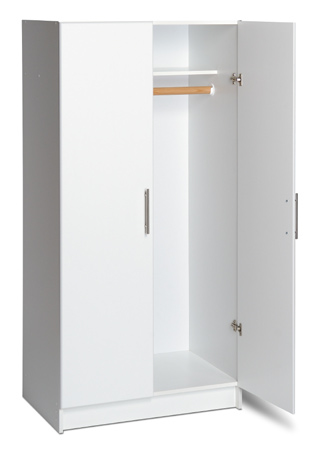 "32"" Wardrobe Cabinet  - Hanging rail for clothes - Fixed top shelf for hats and other small items - Use alone or with 32"" Topper for 89"" high storage 32""w x 65""h x 20""d 119 lbs"