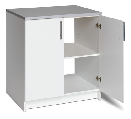"32"" Base Cabinet  - 1 adjustable shelf - Includes gray worktop 32""w x 36""h x 24""d 106 lbs"