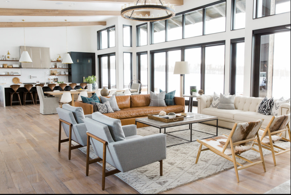 I hope you have fun viewing all the inspiration that went into this home.   How do you feel when you see photos of a home decorated in a modern style?  Do you love that it is mostly neutral with a few pops of color?  Do you love the dramatic windows and contrasts?  Do you love the unique features that are included?  Do you love that it is free from clutter?  OR--that may not be your style at all. Isn't it fun to see examples and figure out what you love?  Sometimes I even change my mind. If you go with neutral in your more costly furniture pieces, you can change the feel of the room with new pillows and accessories. That's a fun thought!!