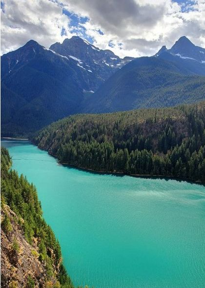 "Diablo Lake in the North Cascades National Park         ""15 Places to Visit in Washington""  via  holidayfeed"