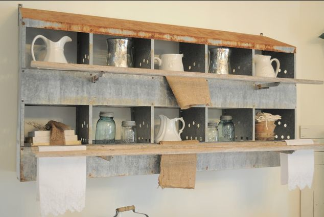 Little nooks and crannies, using rustic elements and repurposing things  via  HOUZZ