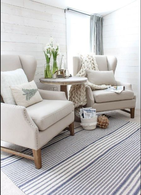 Welcoming sitting areas  via  pinterest