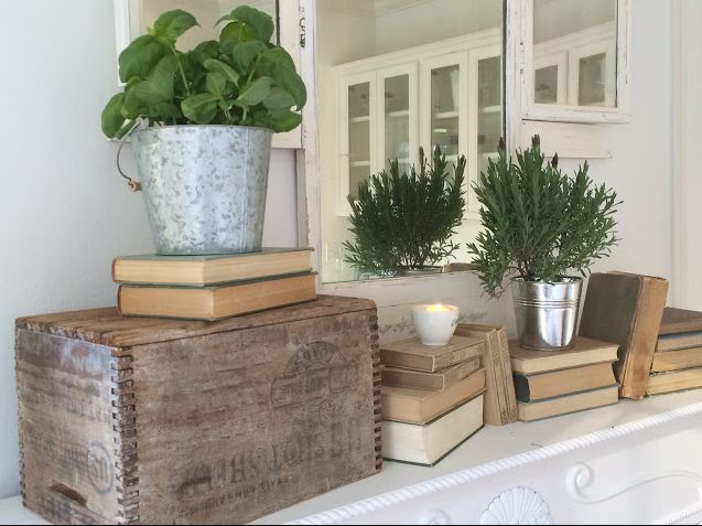 Vignettes with old books  via  pinterest