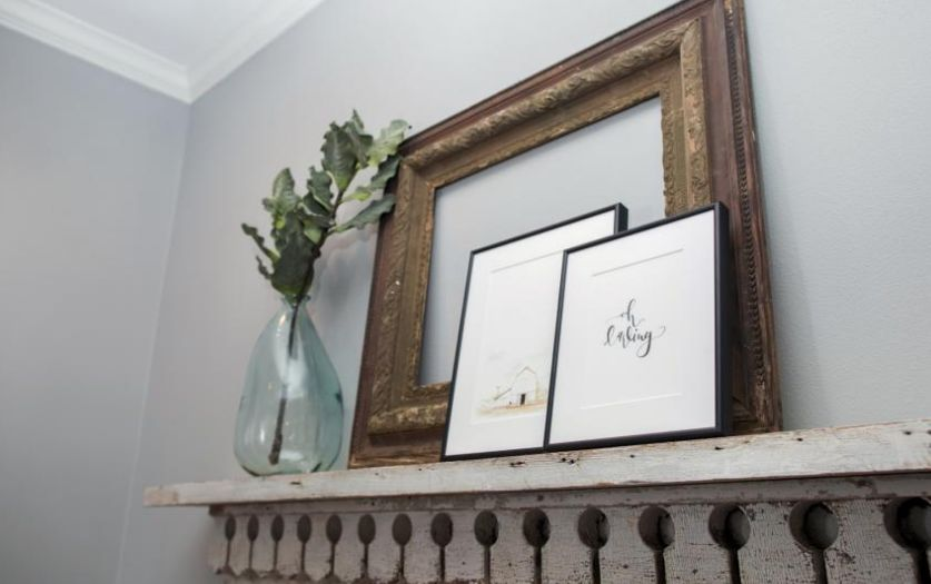 Empty frames on the wall via  HGTV